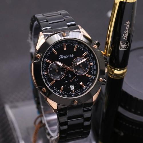 Foto Produk jam tangan TETONIS ORIGINAL PRIA BLACK AND BLACK ROSE RANTAI dari Multyshop MSI