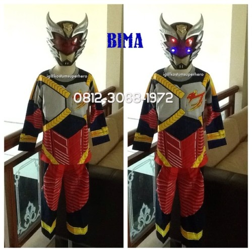 Foto Produk Baju Kostum Anak Karakter Superhero BIMA X Topeng NYALA 5-8 Tahun - Size 10 dari Bebagus