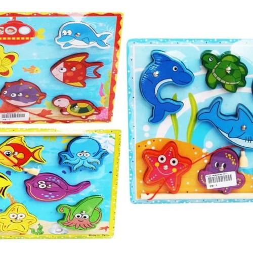 Foto Produk Mainan Edukasi Anak - Puzzle Kayu Chunky Memancing Ikan Mancing Fish dari Toko DnD