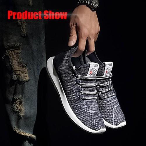Foto Produk Sepatu Kets Sneakers Impor Pria Ukuran 40 - 45 Kualitas Oke - Hitam, 41 dari KRUGEER