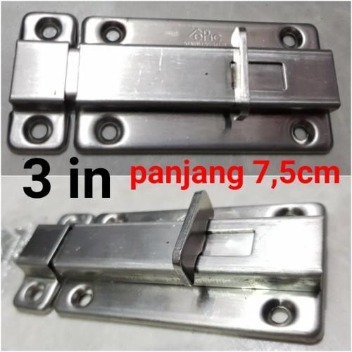 Foto Produk slot lebar stainless 3in / grendel pintu dari Cahaya Berkat90