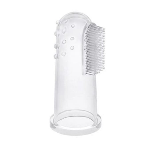 Foto Produk Silicone Sikat Lidah dan Sikat Gigi Bayi | Baby Soft Finger Toothbrush dari bobo baby shop