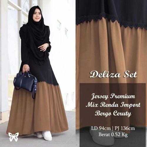 Foto Produk Gamis / Baju / Pakaian Wanita Muslim Deliza Syari Good Quality dari FRYTO Shop