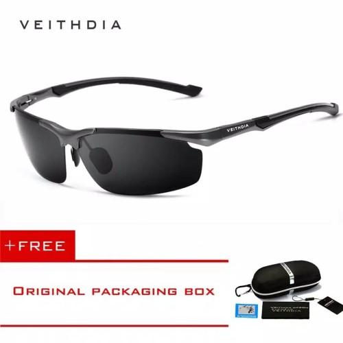 Foto Produk Original Kacamata Polarized Polaroid Anti Silau UV sungglass Veithdia - tanpa minus dari chobuy