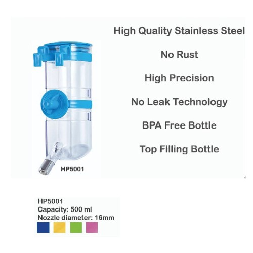 Foto Produk Harpy - hp5001 Water Feeder 500ml Nozzle 16mm Tempat Minum Botol Minum dari atanta Shop