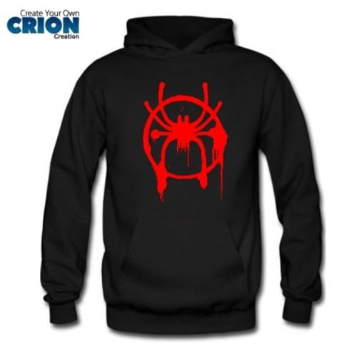 Foto Produk Jaket Sweater Hoodie - Spiderman Into The Spider Verse Logo - By Crion dari Crion