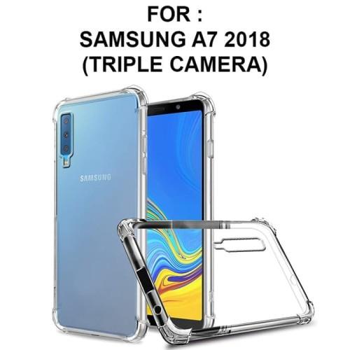 Foto Produk Samsung Galaxy A7 2018 Softcase Bumper Soft Case Cover Casing Bening dari Hosanagadget