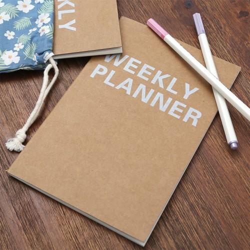 Foto Produk Kraft Weekly Planner A5 / Buku Planner / Planner Mingguan dari Pinkabulous