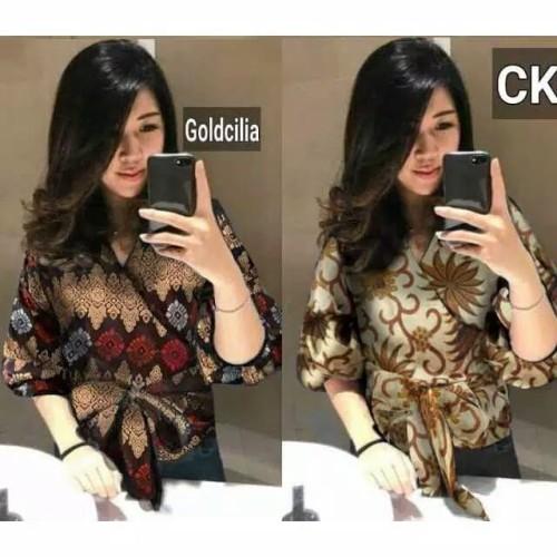 Foto Produk blouse kimono/baju kerja/blus kantor/baju kuliah/kimono kerja muslim dari Fika Olshop Store