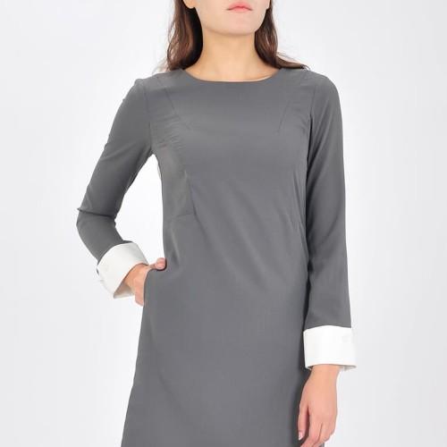 Foto Produk Mini Dress Wanita Nifera - Abu - Abu-abu Muda, XL dari SJO & SIMPAPLY