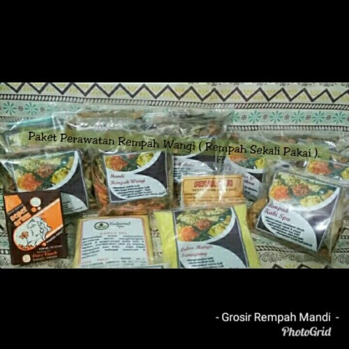 Foto Produk (Kemasan 1x Pake) Paket Perawatan Rempah Wangi + Wedang Manjakani Remp dari SrikandiTradisionalspa