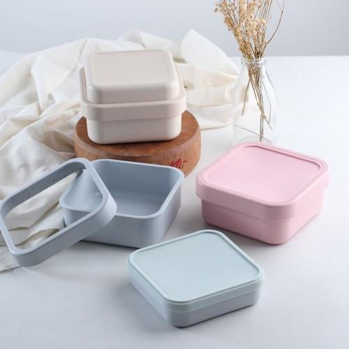 Foto Produk UCHII Bamboo Fiber Lunch Box   Kotak Makan Susun Kedap Eco Friendly - Merah Muda dari uchii store