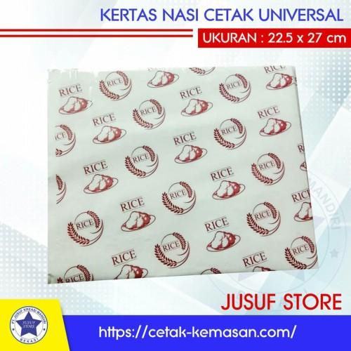 Foto Produk Kertas nasi/ paper wrap foodgrade cetak universal dari new Jusuf Store