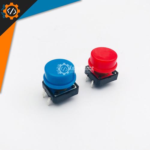 Foto Produk Tactile Push Button TC-1212T 12x12x7.3 MM For Arduino + Cap - Merah dari Kelas Robot