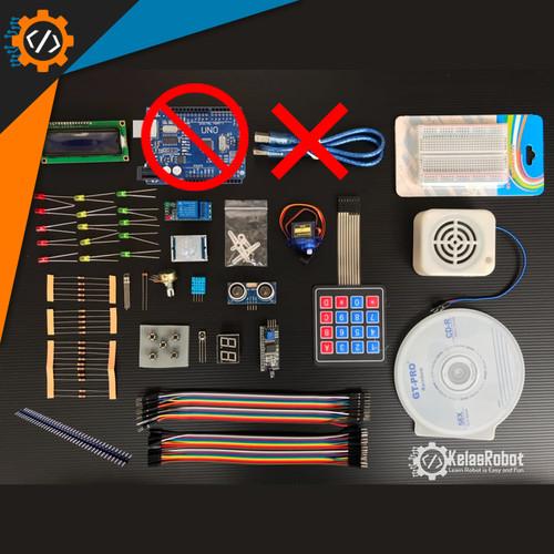 Foto Produk TANPA ARDUINO - [HEMAT] Arduino Uno R3 KIT Newbie + CD Berisi Panduan dari Kelas Robot