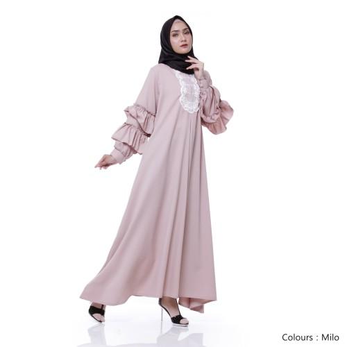 Foto Produk Gamis Wanita Original   Naresha Dress   Gamis Muslim Syari Original - Blue dari Tazkia Hijab Store