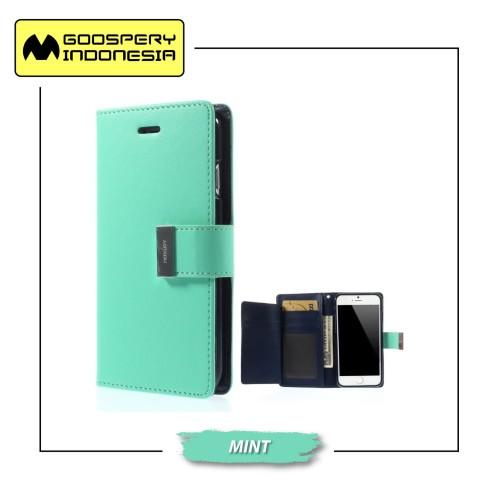 Foto Produk GOOSPERY iPhone 6 iPhone 6S Rich Diary Case - Mint dari Goospery Indonesia