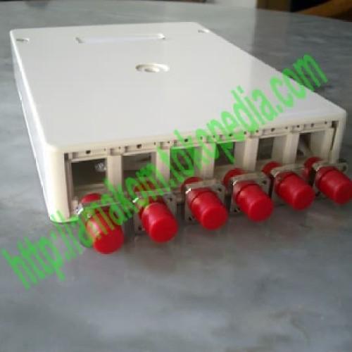 Foto Produk Roset Optik FTTH / Indoor Optical Outlet 6 Core FC Lengkap dari AMAKOM MEDIA KOMUNIKA