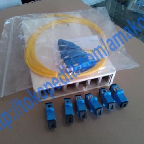 Foto Produk Roset Optik FTTH / Indoor Optical Outlet 6 Core SC Lengkap dari AMAKOM MEDIA KOMUNIKA