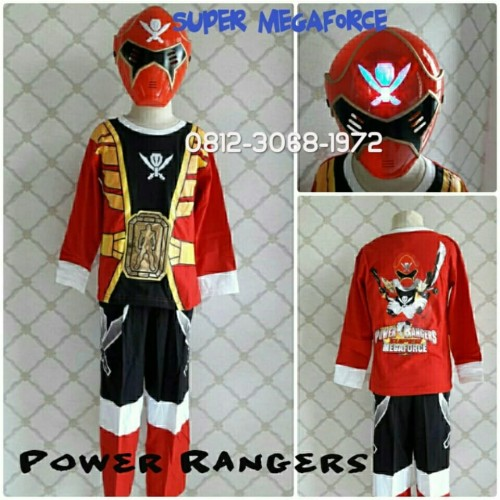 Foto Produk Baju Kostum Anak Superhero Power Rangers SUPER MEGAFORCE 8-11 Tahun - Size 16 dari Bebagus