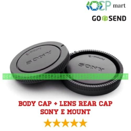 Foto Produk Body cap & Lens Rear Cap Cover Sony NEX Alpha E-Mount tutup body lensa dari ocp mart