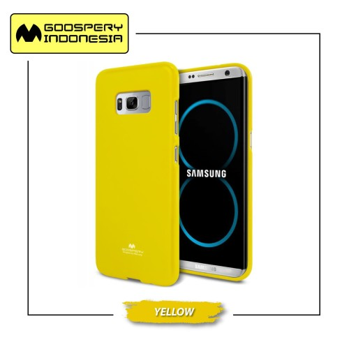 Foto Produk GOOSPERY Samsung Galaxy A8 2018 Pearl Jelly Case - Yellow dari Goospery Indonesia