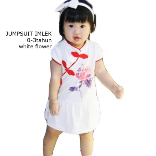 Foto Produk Carter Jumper/Cheongsam Qibao/Baju Imlek Bayi Perempuan White dari TSPOINT STORE