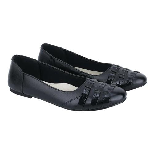 Foto Produk Sepatu Flat Shoes Hitam Kulit Asli Wanita Original Catenzo HA 066 dari shagaia shoes