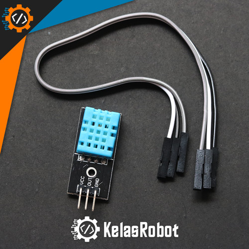 Foto Produk Sensor Suhu dan Kelembaban DHT11 Temperature Humidity for Arduino dari Kelas Robot
