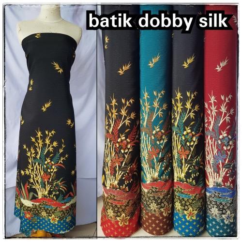 Foto Produk kain batik semi sutera dobby meteran motif bambu dari toko kain iona