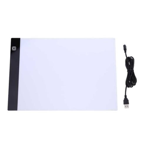 Foto Produk LED Tracing Light Pad Graphics Drawing Tablet A4 Paper - Hitam dari aliku