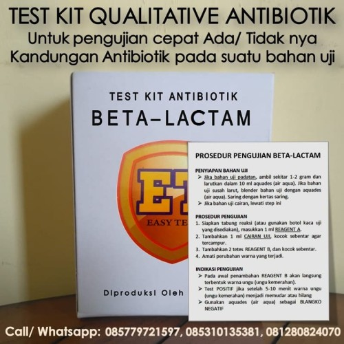Foto Produk Test Kit Betalaktam Antibiotic - Testkit Antibiotik utk Tes Uji Pangan dari Sooper Shop