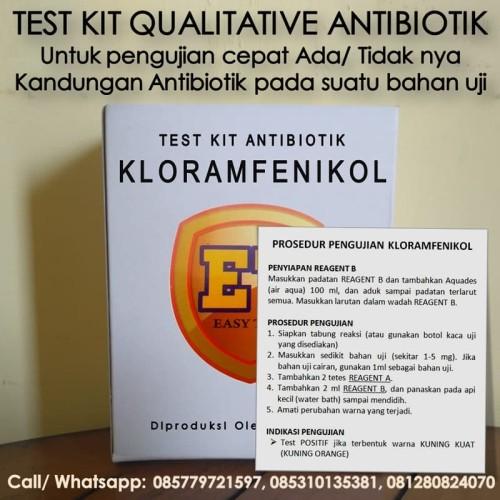Foto Produk Test Kit KL0RAMFEN1KOL Antibiotic - Testkit Antibiotik utk Tes Pangan dari Sooper Shop