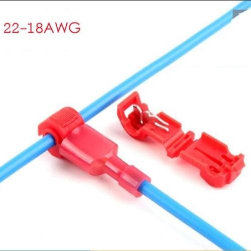 Foto Produk T tap konektor T-Tap penyambung kabel terminal connector jumper dari flipper