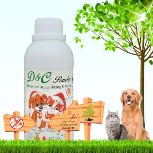 Foto Produk D&C Bedak Anti Jamur Anjing dan Kucing 150Gram dari Produkkita