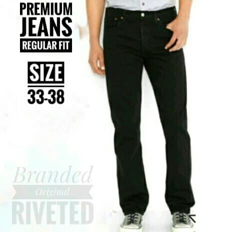 Foto Produk Celana Jeans Standar / Celana Jeans Panjang Big Size - Hitam, 33 dari kayu shop