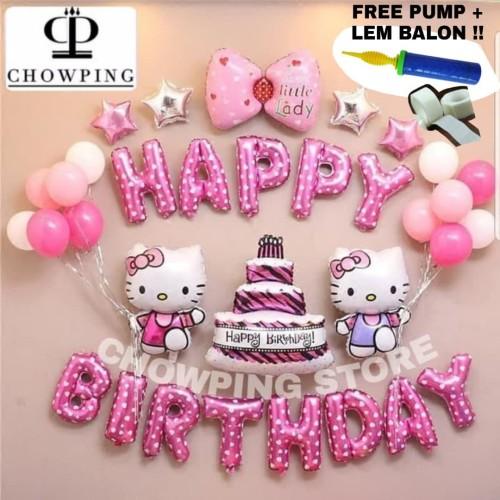 Foto Produk HK01 - Set Balon Dekorasi Ulang Tahun Birthday Tema Hello Kitty dari CHOWPING_STORE