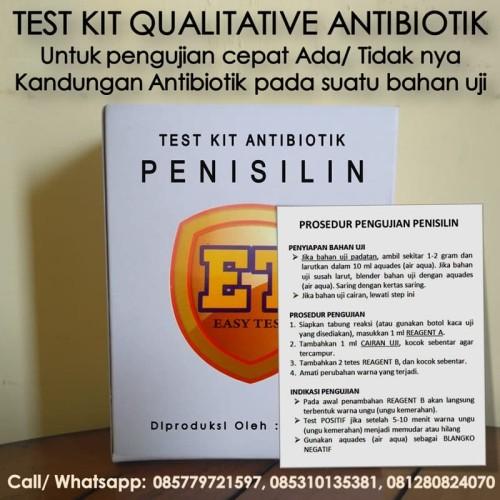 Foto Produk Test Kit Penisilin Antibiotic - Testkit Antibiotik utk Tes Uji Pangan dari Sooper Shop