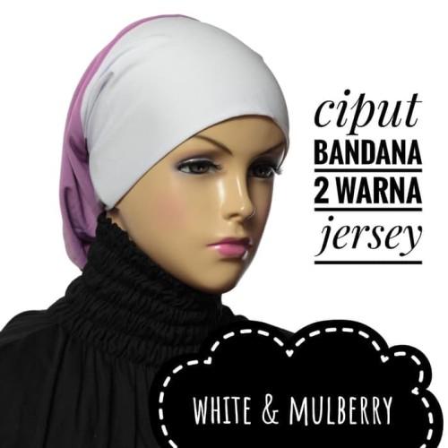 Foto Produk Ciput bandana 2 warna jersey / inner hijab dari House Of SEAS