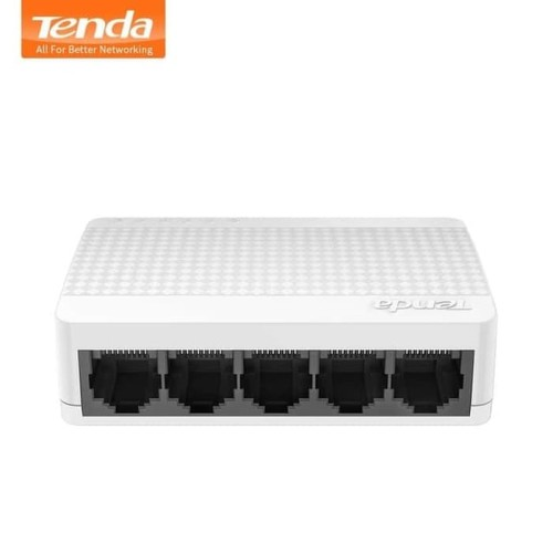 Foto Produk TENDA S105 5-Port Ethernet Switch - Switch Hub 5 Ports Switch Internet dari Aquarius Official