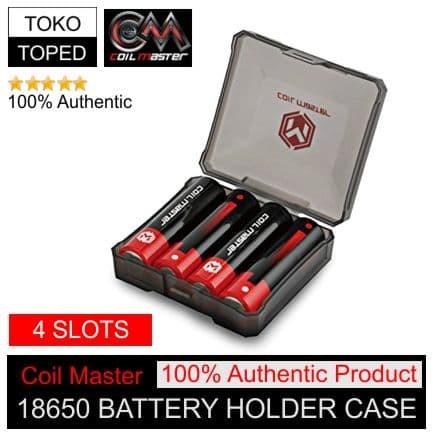 Foto Produk Authentic Coil Master 4 Slots 18650 Battery Holder Case | kotak batere dari deKloud