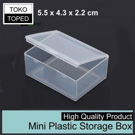 Foto Produk [AN] 5.5 x 4.3 x 2.2 cm Mini Plastic Storage Box | coil plastik kotak dari deKloud