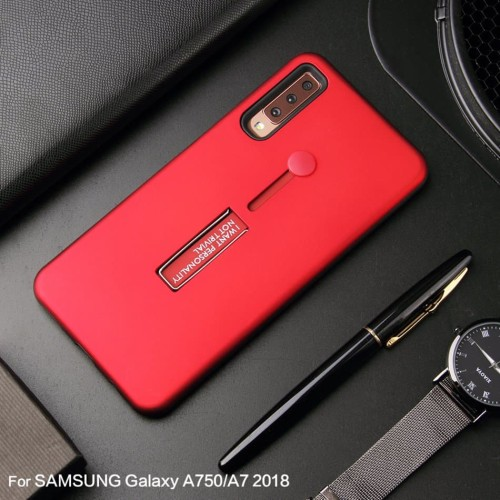 Foto Produk Samsung A7 2018 Silicone Ring Stand Luxury Soft Gel Capa Armor Case dari Megascarlet