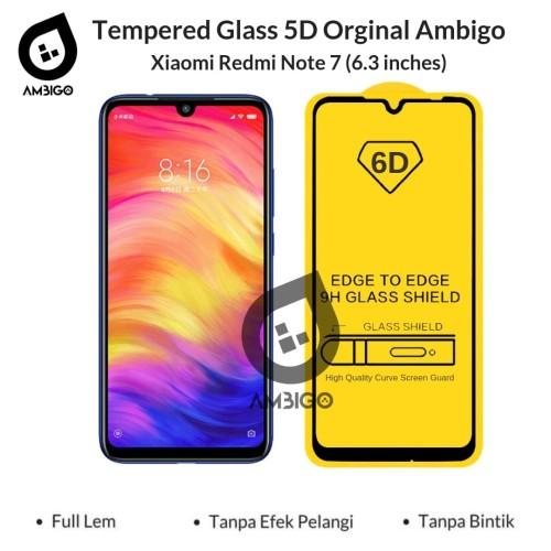 Foto Produk Tempered Glass 6D Redmi Note 7 Full Cover Color Ambigo - Hitam dari Jagonya Case