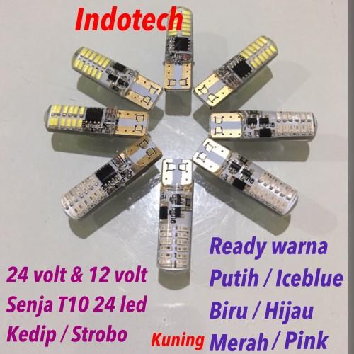 Foto Produk Lampu Senja T10 12v-24v strobo/flash 24 led dari indotech-jkt