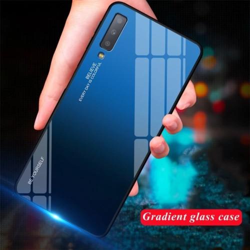 Foto Produk Gradient Glass Case Samsung A7 2018 A750 A72018 Back Cover Casing dari Akhe Online Shop