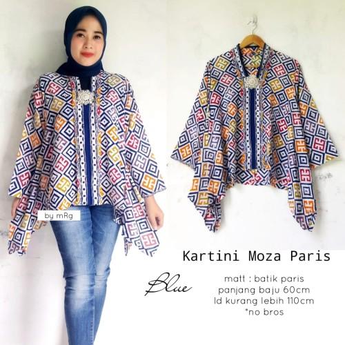 Foto Produk blouse batik kartini moza blue dari batiek latulip solo