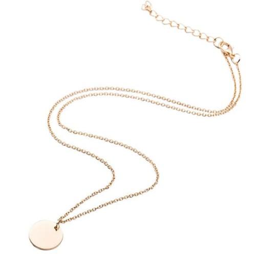 Foto Produk kalung simpel bulat small round thin simple necklace jka159 - gold dari Oila