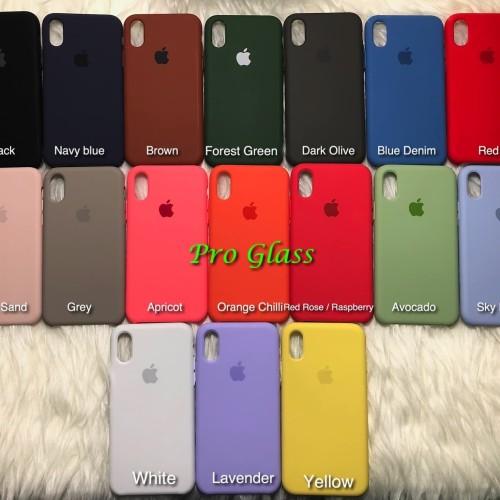 Foto Produk C201 Iphone X Original Apple Silicon Leather Case Silicone dari Pro Glass