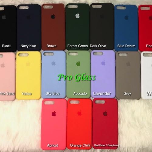 Foto Produk C201 Iphone 7/8 Original Apple Silicon Leather Case Silicone dari Pro Glass